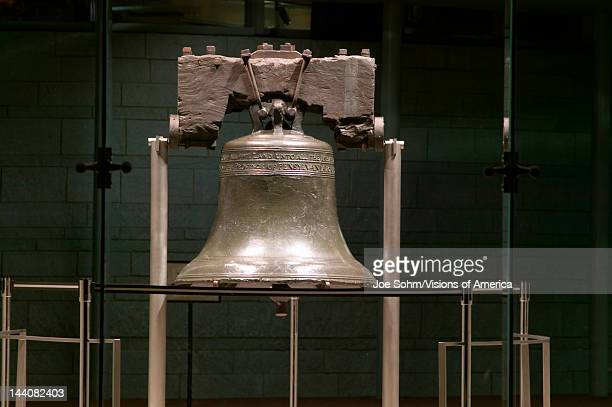 Night shot of Liberty Bell at Liberty Bell Center in Historic District of Philadelphia Pennsylvania