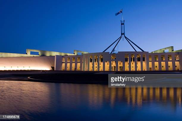 night shot of parliament house