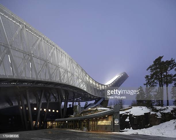 Night shot of ski jump Holmenkollen Ski Jump Ski Jump Europe Norway JDS Architects