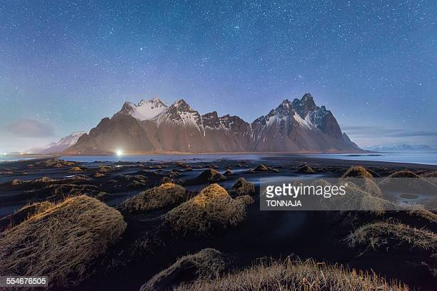 Night shot of Vesturhorn