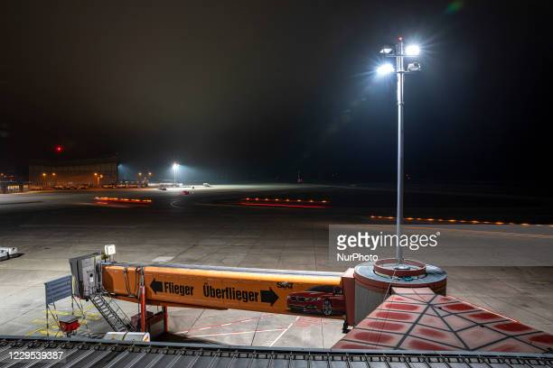 Night shots from the last day of Berlin Tegel Airport TXL on November 8, 2020.