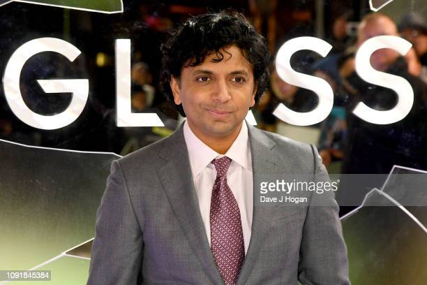 """Night Shyamalan attends the European Premiere of """"Glass"""" at The Curzon Mayfair on January 09, 2019 in London, England."""