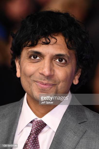 """Night Shyamalan attends the UK Premiere of """"Glass"""" at The Curzon Mayfair on January 09, 2019 in London, England."""