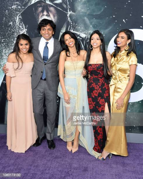 M Night Shyamalan Bhavna Vaswani and guests attend the Glass New York Premiere at SVA Theater on January 15 2019 in New York City