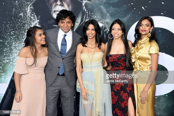 """Night Shyamalan , Bhavna Vaswani and guests attend the """"Glass"""" New York Premiere at SVA Theater on January 15, 2019 in New York City."""