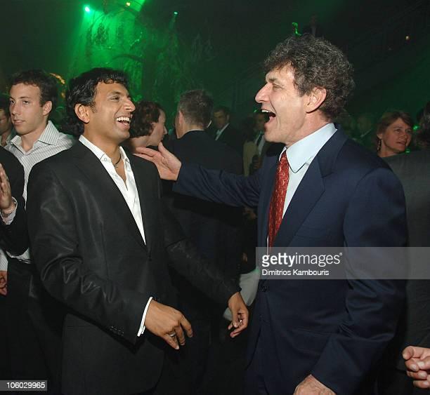 M Night Shyamalan director and Alan Horn of Warner Bros