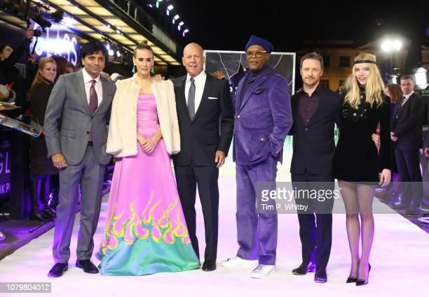 M Night Shyamalan Sarah Paulson Bruce Willis Samuel L Jackson James McAvoy and Anya TaylorJoy attend the UK Premiere of M Night Shyamalan's allnew...