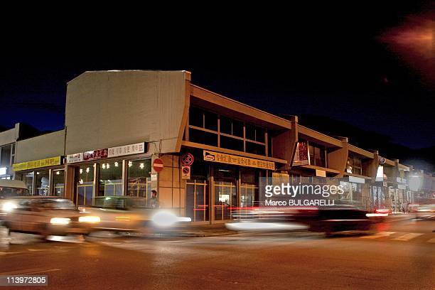 The Chinese Community In Prato Italy On November 22 2005Prato Italy November 22 2005 Night sightseeing of the chinese shops of via Fabio Filzi in the...