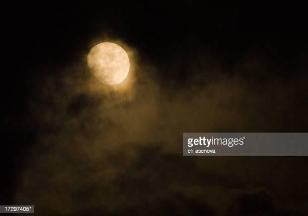 Night sky and full moon