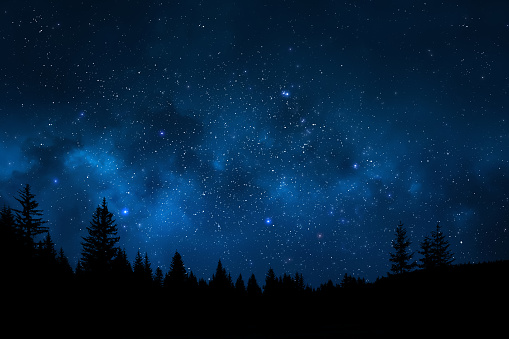 Night sky landscape 809971888