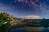 night sky over lake segare anak