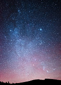 Night sky over the forest