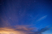 night sky simple abstract