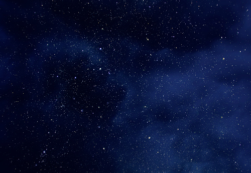 Night Sky with Stars and soft Milky Way Universe as Background or Texture 971578384