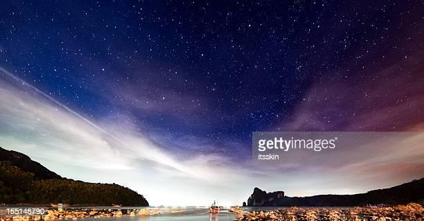 Cielo de noche con estrellas