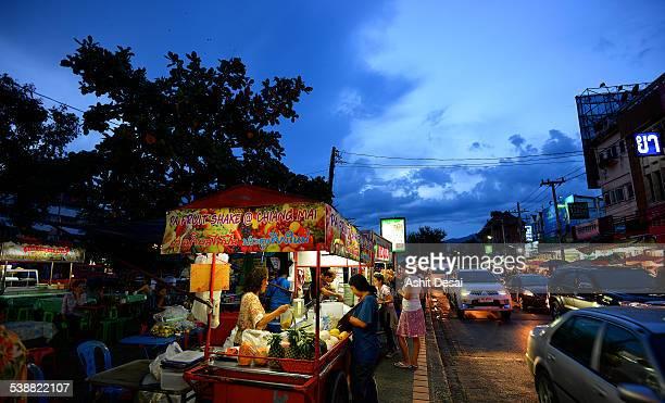 Night street food market, Chiang Mai