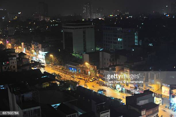 A night street in Hanoi