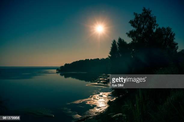 Night 'Sun' on Nemda river