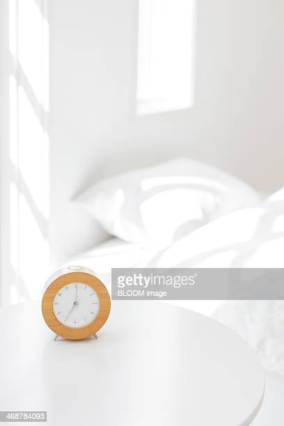 Night table with clock