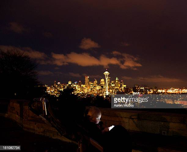 Night text in Seattle