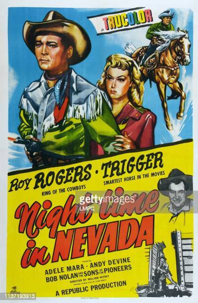 Night Time In Nevada poster Roy Rogers Adele Mara Trigger Andy Devine 1948