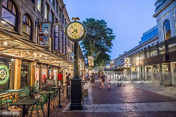 Night time in Quincy Market