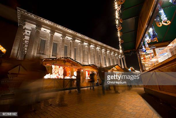 mercato di notte - natale di roma foto e immagini stock