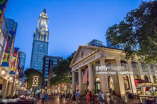 Night time near Quincy Market