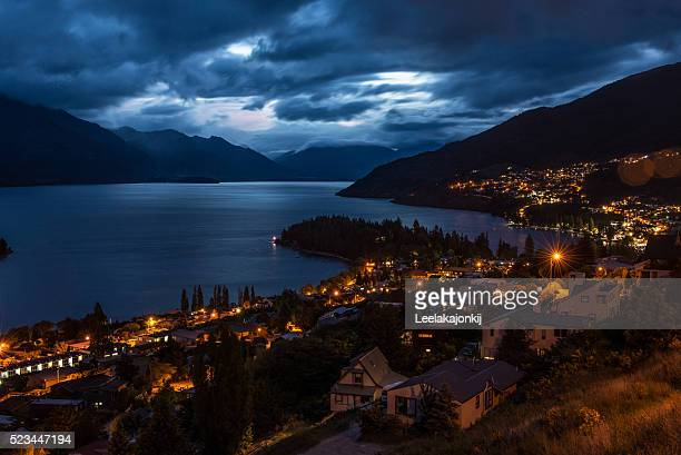 Night time of Queenstown, New Zealand