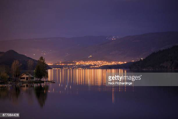 Night time on Kalamalka Lake, British Columbia, Canada