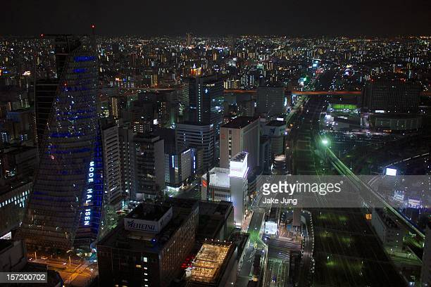 Night time overview of Nagoya station area