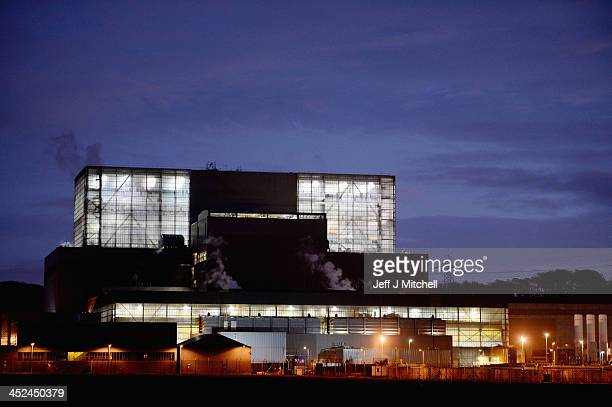 A night time view of the Hunterston B power station on November 28 2013 in West Kilbride Scotland Hunterston B Power station is operated by EDF...
