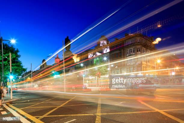 Night traffic, Dublin