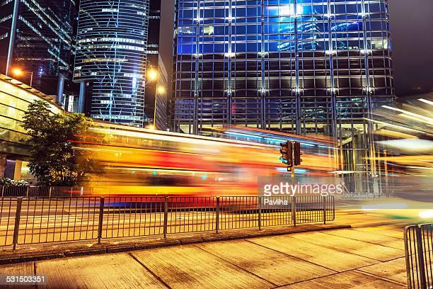 Night Traffic Hong Kong Island, China South Asia