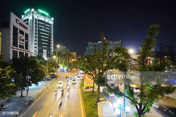 Night Traffic in Hanoi, Vietnam