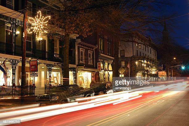 Night Traffic in Lambertville