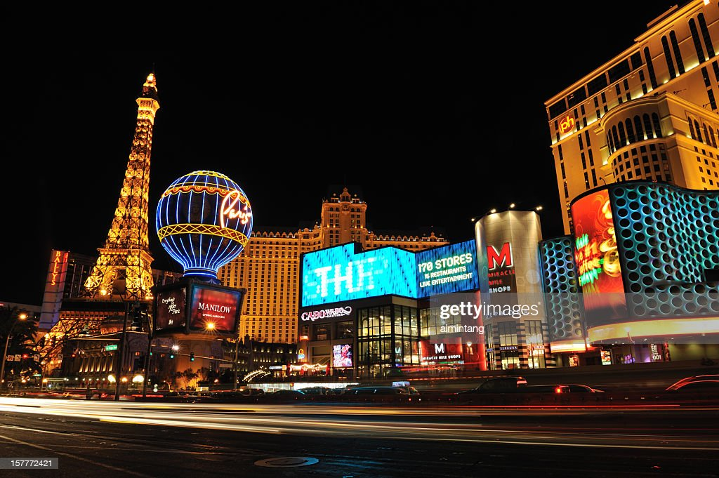 Night Traffic in Vegas : Stock Photo