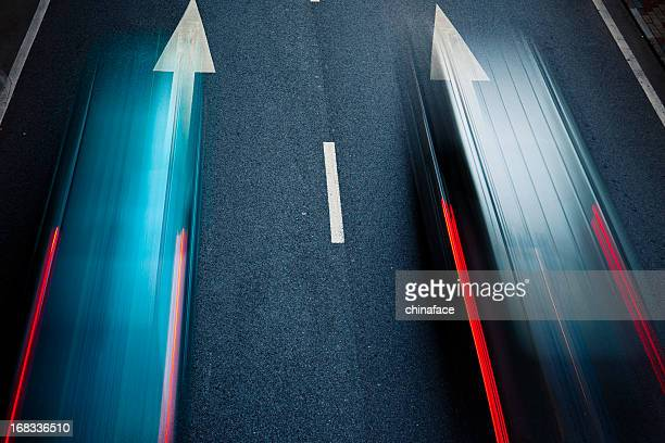 night traffic - motion stock pictures, royalty-free photos & images