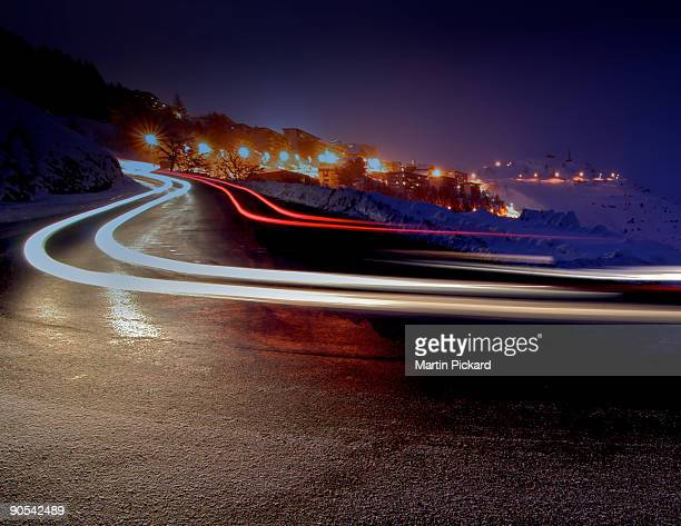 Night trail bend