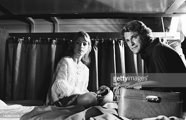 """Night Train to Dallas"""" Episode 5 -- Aired 10/14/76 -- Pictured: Katherine Crawford as Dr. Abbey Lawrence, Ben Murphy as Same Casey -- Photo by: NBCU..."""