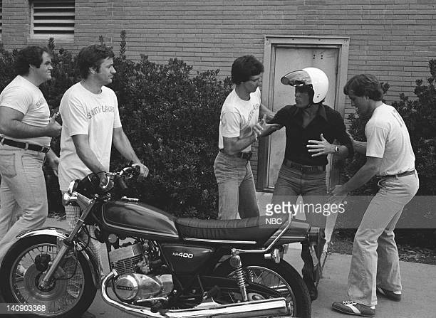 """Night Train to Dallas"""" Episode 5 -- Aired 10/14/76 -- Pictured: Michael McManus as Moose , Ben Murphy as Sam Casey -- Photo by: NBCU Photo Bank"""