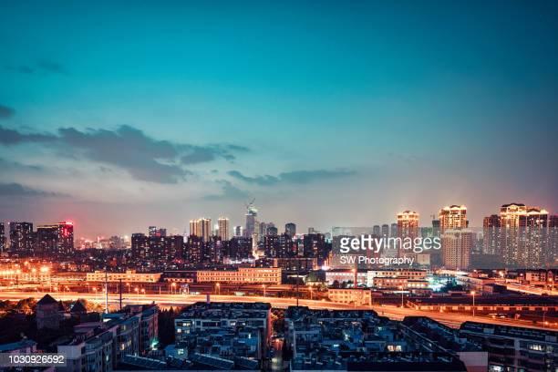 Night view and Cityscape of Kunming, Yunnan, China