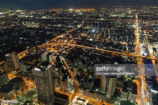 night view from Abenoharukasu