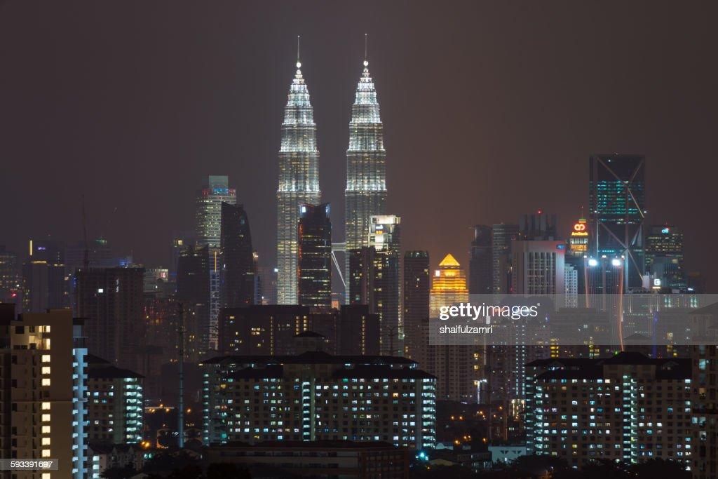 Night view from Kuala Lumpur : Stock Photo