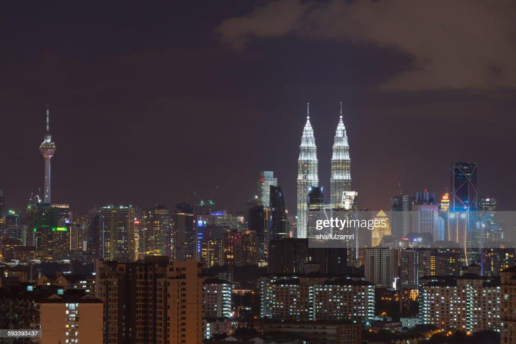 Night view in Kuala Lumpur : Foto de stock