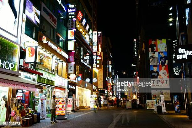 Night view in Myeongdong