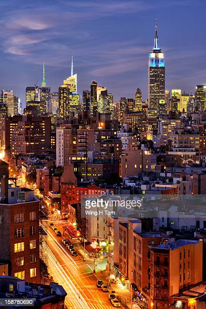Night view of 7th Avenue and Midtown Manhattan