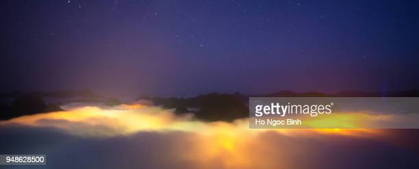 Night view of amazing landscape rice field on Bac Son, Viet Nam