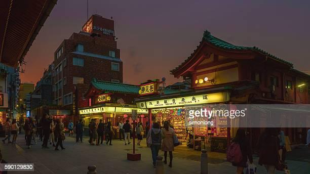 Night view of Asakusa Kannon temple,Tokyo,Japan