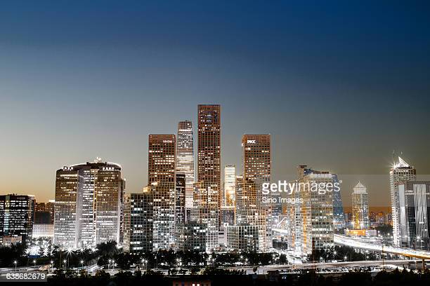 night view of Beijing CBD